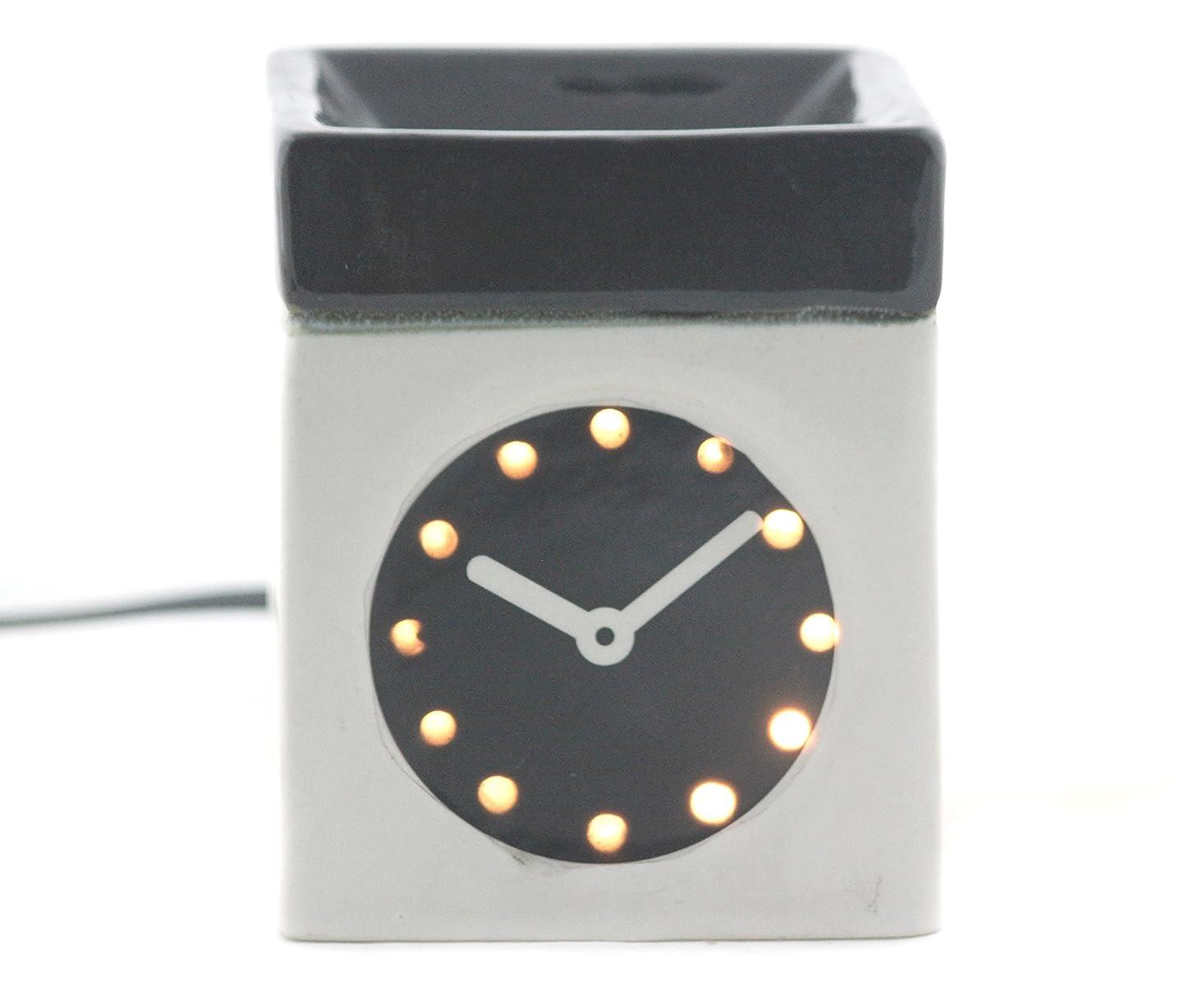 有彩色のライラック定数Karguzzari セラミック 電気 アロマディフューザー ワイヤー オイルウォーマー ディスペンサー コード付き アロマ オイルバーナー エッセンシャルオイル ディフューザー アロマセラピー ランプ 腕時計 OCER-105