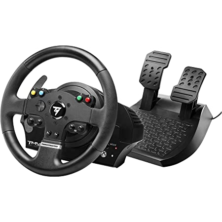 Thrustmaster TMX volant de course ergonomique avec un pédalier 2 pédales - métal pour Xbox One et PC. Fonctionne sur Xbox Series X