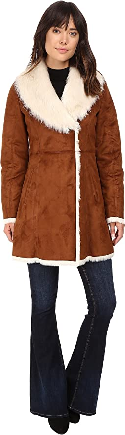 Sarah Faux Suede/Fur Coat