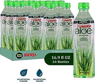 Iberia Aloe Vera Juice Drink , Original, 16.9 Fl Oz (Pack of 24) BPA Free Bottles with Pure Aloe Pulp, No Artificial Flavors Preservatives or Colors, Convenient Healthy Aloe Juice Drink