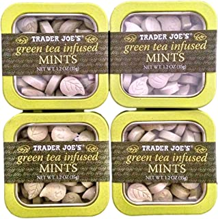 Trader Joes Green Tea Infused Mints (Pack of 4)
