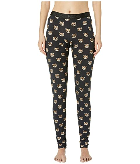 Moschino Jersey Stretch Leggings w/ Tiger Teddy Bears All Over
