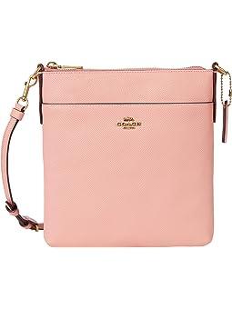 코치 크로스바디백 COACH Crossgrain Leather Kitt,Candy Pink