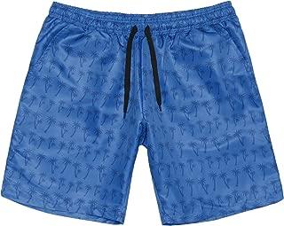 Men's Quick Dry Swim Trunks Plaid Monaco Swimwear Casual Beach Volley Surf Swim Shorts Printed Elastic Waist