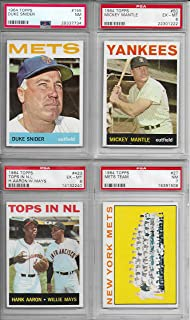 1964 Topps Baseball Card Complete Set 587 Cards Exmt to Nrmt