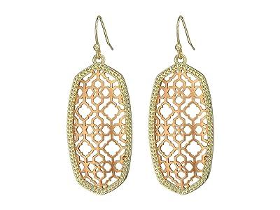 Kendra Scott Elle Earring (Gold/Rose Gold Filigree Mix) Earring