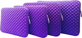 AZ-Cover 12.5-Inch Case Simplicity & Stylish Diamond Foam Shock-Resistant Neoprene Sleeve (Purple) For ASUS Transformer Book T300 Chi Signature Edition 2 in 1 12.5-Inch Laptop PC