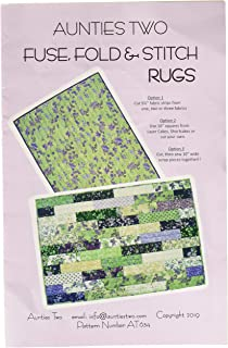 Fuse Fold and Stitch Rugs Pattern by Auntie's Teo