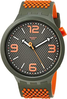 Swatch Mens Analogue Quartz Watch with Silicone Strap SO27M101