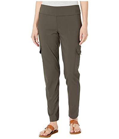 Elliott Lauren Control Stretch Pull-On Pants with Cargo Pocket Detail (Petroleum) Women