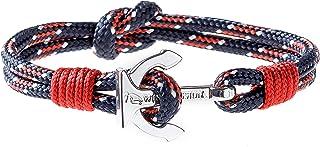 Wind Passion Premium Segeltau Maritim Edelstahl Anker Armband für Männer Frauen