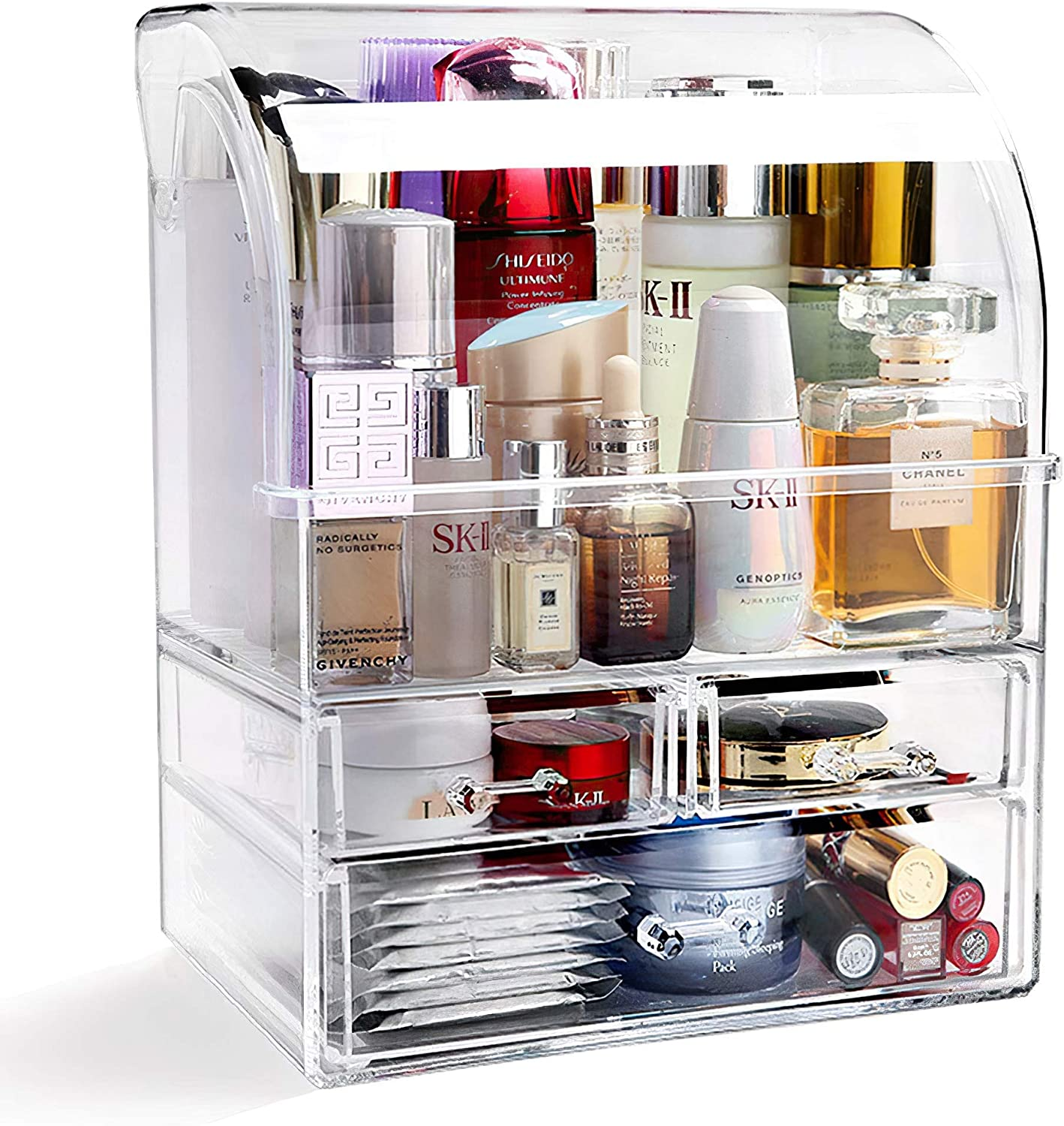Large Acrylic Makeup Organizer Large-scale sale With Limited price sale Lid Drawers Storage Cosmetic