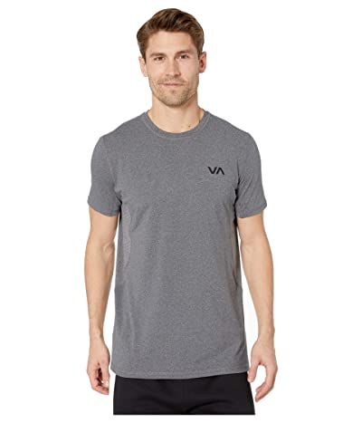 RVCA VA Sport Vent Short Sleeve Top (Charcoal Heather) Men