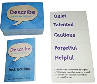 Describe Cards - Meaningful Conversation Starter Games and Activities! Over 300 Questions. Over Two Dozen Games & Activities. Loved by Therapists. Enjoyed by Families, Teachers, and More!