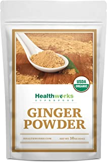 Healthworks Ginger Powder (16 Ounces / 1 Pound) | Ground | Raw | All-Natural & Certified Organic | Keto, Vegan & Non-GMO | Great with Coffee, Tea & Juices | Antioxidant Superfood/Spice