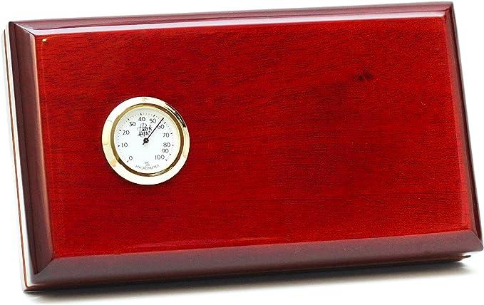 Bcic cigar - the viajero - 5 cigar travel humidor, dark burgundy gloss, latin-american made