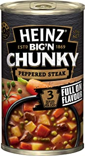 Heinz Big 'N Chunky Peppered Steak Canned Soup, 535g