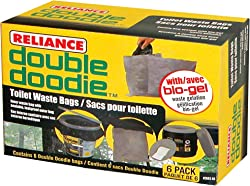 Reliance Products 2683-03 Double Doodie Toilet Waste Bags (6-Pack)