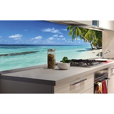 Klebefolie Dekofolie DIMEX LINE K/üchenr/ückwand Folie selbstklebend Strand IM Paradies 180 x 60 cm Premium QUALIT/ÄT Spritzschutz f/ür K/üche