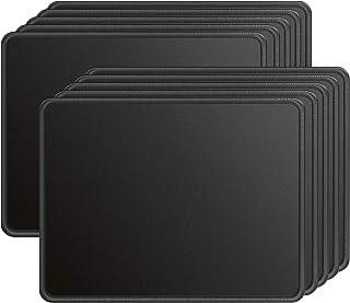 مجموعة من 10 قطع ماوس باد بحواف مخيطة من Ktrio تحتوي على قطعة قماش من الليكرا، قاعدة مطاطية مضادة للانزلاق، وسائد ماوس مطل...