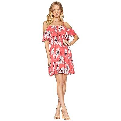 Jack by BB Dakota Winters Tahitian Petals Dress (Hibiscus Red) Women
