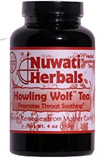 Nuwati Herbals - Howling Wolf Tea - Promotes Throat Soothing - Loose Leaf Tea Blend, 4 ounces