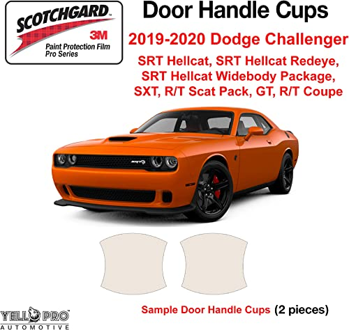 2021 YelloPro Custom Fit Door Handle Cup 3M Anti Scratch Clear Bra Paint Protector Film online Cover Self Healing PPF Guard for 2019 2020 2021 2022 Dodge high quality Challenger Coupe outlet sale