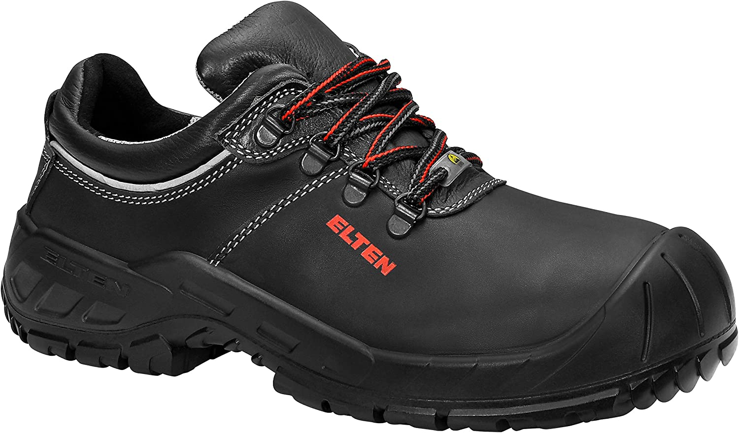 Elten 725841-48 Safety shoes Renzo Low  ESD S3, Size 12.5, black red