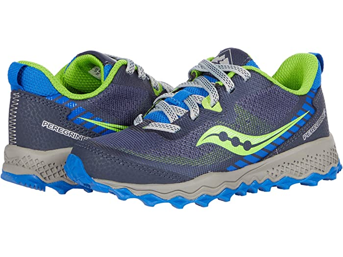 Saucony unisex child Peregrine 11 Shield Sneaker 4 Big Kid US Blue//Green