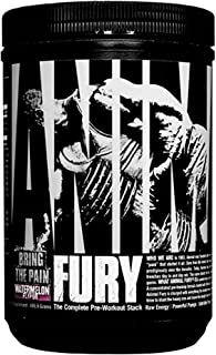 Animal Fury - Pre Workout Powder Supplement for Energy and Focus - 5g BCAA, 350mg Caffeine, Nitric Oxide, Without Creatine - Powerful Stimulant for Bodybuilders - Watermelon - 30 Servings