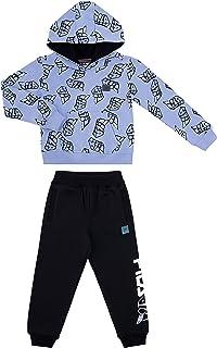 Fila Boys Two Piece Fleece Pant Sets with Hooded Sweatshirt Kids 2-7 Clothes