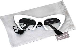 Cat Eye Eyeglasses Women Retro Vintage Razor Clear Lens Style Half Cut Off Frame