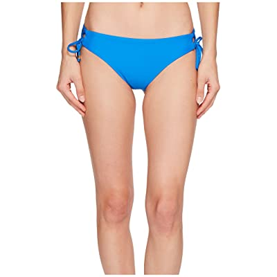 Ella Moss Shiny Spice Lace-Up Bikini Bottom (Stone Blue) Women