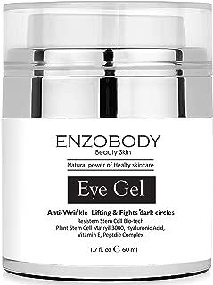 ENZOBODY Eye Gel, 1.7 oz For -Dark Circles, Puffiness, Wrinkles and Bags - REDUCE PUFFINESS AND DARK CIRCLES, 70% organic