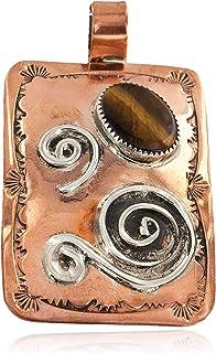 قلادة من الفضة المعتمدة 300 علامة من الذهب النحاس النافاجو قلادة العين الأصلية 16987-2 مصنوعة من قبل لوما سيفا