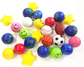 Dazzling Toys 25 Pcs Assorted Color Squeeze Ball | Value Bulk Pack of Stress Balls | 25 Pack