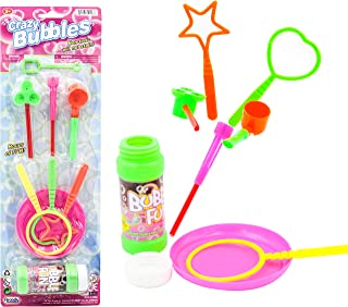 Blowing Bubbles For Kids With Fun Super Wand Assortment