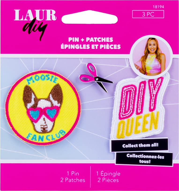 LaurDIY 18194 Pins & Patches Sweetie Pie, Pink
