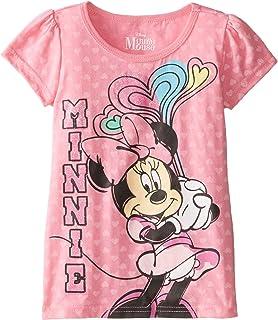 Disney Girls' Short Sleeve Minnie Mouse T-Shirt
