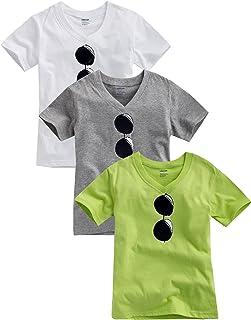 [Vaenait Baby]キッズ2歳-7歳綿100%ルームウェアショートスリーブ半袖Tシャツ Sunglasses