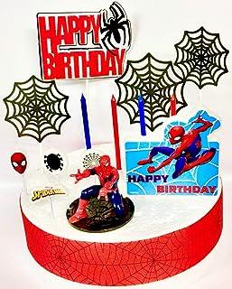 Juego de decoración para tartas de cumpleaños para fans de Spiderman