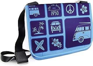 BRISA VW Collection - Volkswagen Bus T1 Camper Van Kombi Neoprene Messenger Bag/Laptop Bag, Toiletry Bag, Wallet