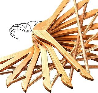 IVAAN® 12 Pieces Wooden Cloth Hangers