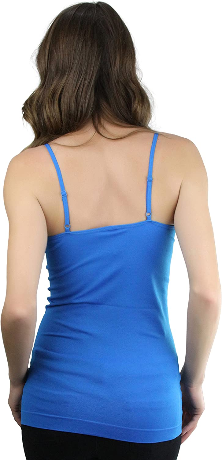 ToBeInStyle Womens Fitted Adjustable Spaghetti Strap Camisole