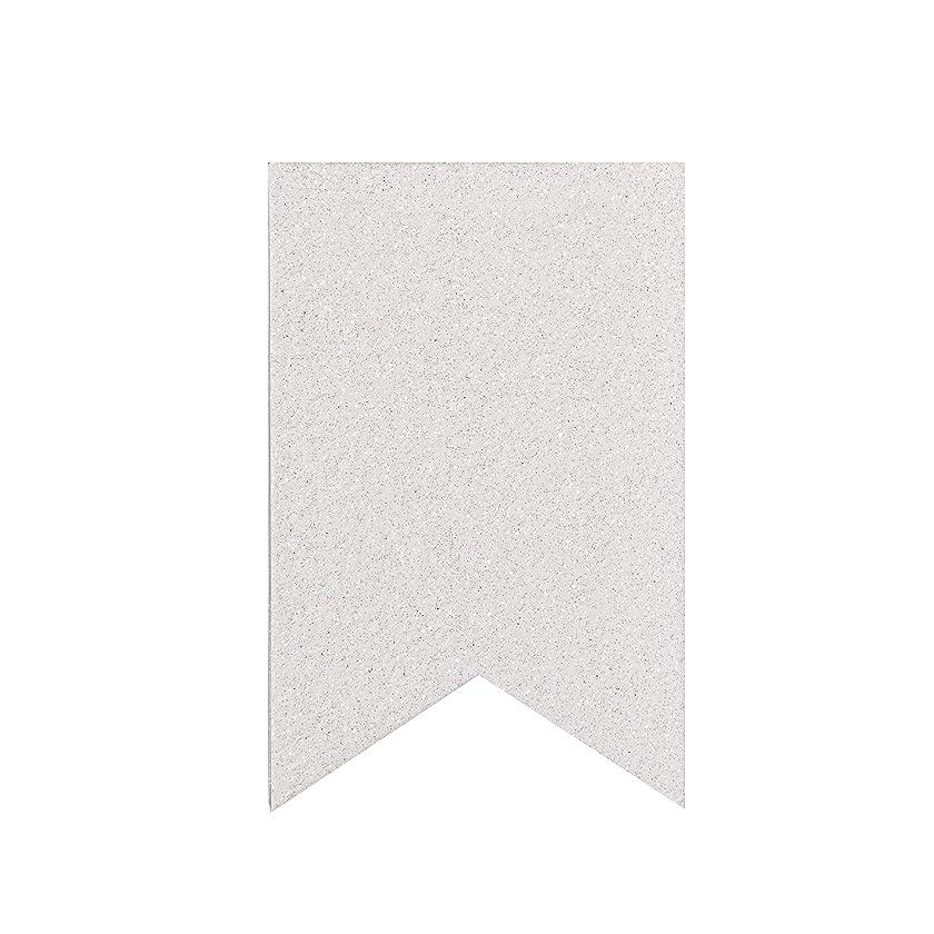 Darice Small White Glitter Matboard Party Banner
