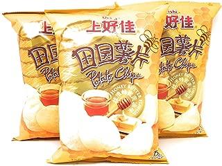 Oishi Potato Chips Honey Butter Flavor 2.82oz (80g), 3 Pack