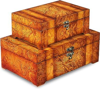 Cheung's FP-2623-2 Rectangular Wooden Box  Set of 2