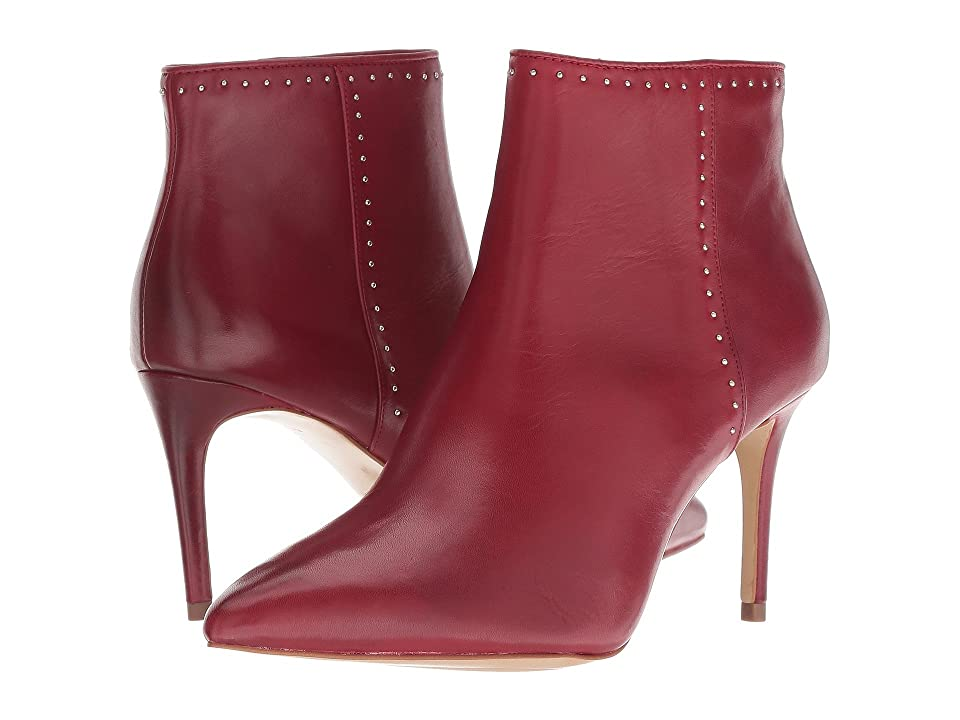 Donna Karan Lizzy (Deep Red Baby Calf/Nappa) High Heels