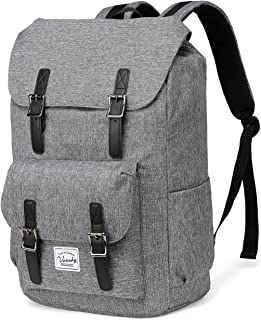Backpack for men,Vaschy Casual Water-resistant Hiking Camping Daypack Travel School Backpack Fits 15.6in Laptop