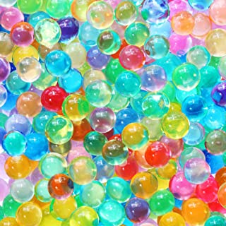 20,000 Colorful Water Gel Beads for Kids Sensory Toys, 10 Colors 2 Sizes, Water Growing Bead for Spa Refill and Décor